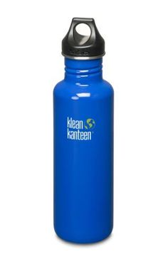 Klean Kanteen Stainless Steel Bottle with Loop Cap Ocean Blue 27Ounce >>> Click image for more details.