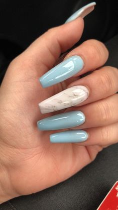It's important to maintain the fashion and popularity of nails. In order to achieve your style in this spring, there is no better choice than coffin nails. Coffin nails can be short or long. Long coffin nails are bold and fashionable. The coffin nai Aycrlic Nails, Cute Nails, Hair And Nails, Trendy Nails, Coffin Nails Long, Long Nails, Short Nails, Long Nail Art, Best Acrylic Nails