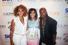 Angela Christina, Quad Webb-Lunceford and Larry Simms at the Beauty Is Love Lounge