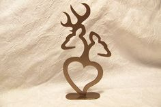 Deer+couple+metal+cake+topper+by+bluemountaincrafts+on+Etsy,+$12.00