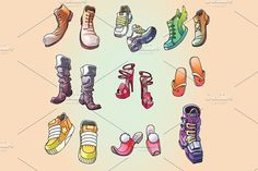 Some Original Vector Shoes #vector #illustration