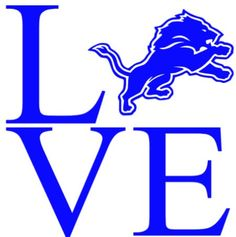 Detroit Lions Love Car Decal by MelissasVinylDesigns on Etsy
