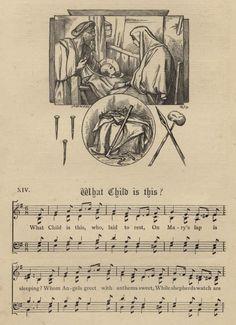 printable vintage christmas hymns and carols - Google Search