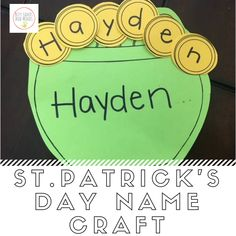 Patrick's Day Name Craft for Preschool - St. Patrick's Day name craft for preschool St. Patrick's Day name craft for preschool St. March Crafts, St Patrick's Day Crafts, Daycare Crafts, Preschool Crafts, Holiday Crafts, Preschool Alphabet, Holiday Ideas, Shamrock Template, St Patricks Day Crafts For Kids