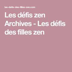 Les défis zen Archives - Les défis des filles zen