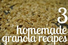 {3 Homemade Granola Recipes} The almond butter one sounds interesting!
