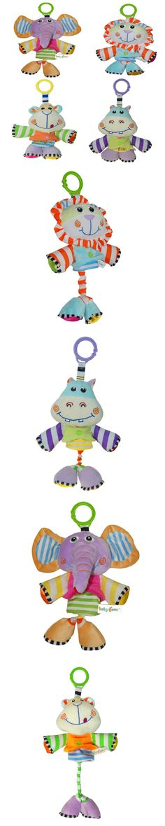 Baby toys Babyfans Soft Plush Toy Pullerstring Rattle Music Hanging Toys for Children Baby Stroller - Animal Random sending