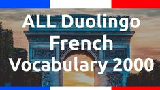 Learn ALL Duolingo French Vocabulary 2000 + Alpha - YouTube Flashcard App, French Language, Learn French, Vocabulary, Learning, Languages, Youtube, Fle