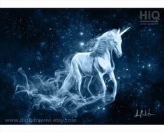 P182: Unicorn Patronus by DigitDreams on Etsy