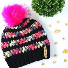 Beautiful and cute free crochet patterns hats for 2019 - Page 25 of 56 . Crochet Gifts, Easy Crochet, Crochet Baby, Free Crochet, Knit Crochet, Loom Knitting, Knitting Patterns, Crochet Patterns, Hat Patterns