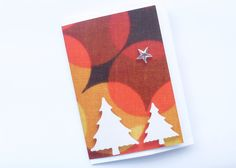 Retro Christmas trees greeting card £1.90
