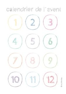 Advent calendar Numbers | Free Download | my little day