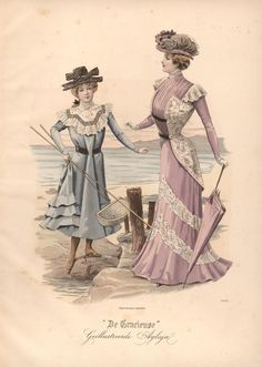 "onceagarden: "" De Gracieuse, 1899 "" ""Beauty is kept secret, only hinted at by flattering clothing styles that still keep the gem of the beauty's essence well hidden, yet not unknown by any means"" Unknown Author"