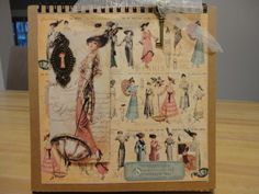 Hand Made Graphic 45 Ladies Diary Easel Scrapbook Album Gift Tag | eBay