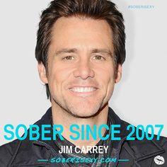 Jim Carrey. Sober Since 2007. #SoberSince #Recovery