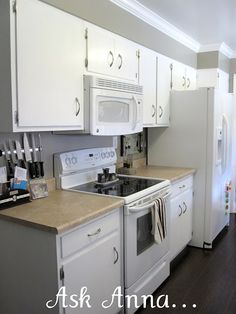 Find This Pin And More On Kitchen Dining Painted White Cabinets With White Appliances
