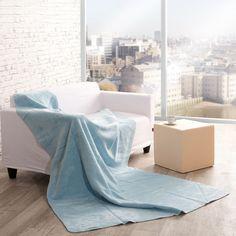 Deka Cotton Cloud 150x200cm Pastel Blue     #deka#obyvacka#prikryvka Cotton Clouds, Pastel Blue, Floor Chair, Bean Bag Chair, Flooring, Blanket, Furniture, Home Decor, Fall Weather