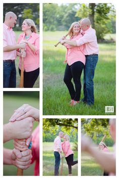 Fun baseball themed engagement photography session only at a baseball field.