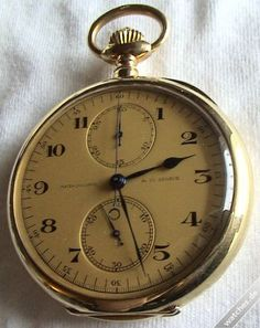 Patek Philippe Vintage Pocket Watch Chronograph from 1912