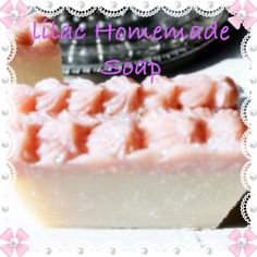 Lilac homemade soap