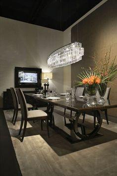 Fendi Casa, FF CASA Galileo Maxi table and Frangie chairs