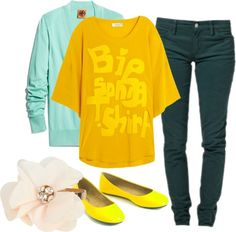 """Mellow Yellow"" by feliciamanes on Polyvore"