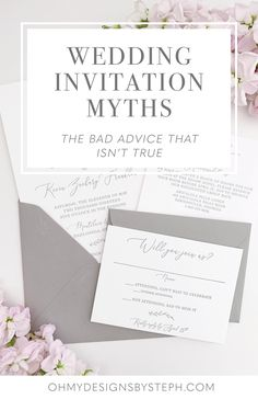 "They're ""boring"" and ""just a piece of paper"" - all the wedding invitation myths you shouldn't believe when it comes to planning for the big day!"