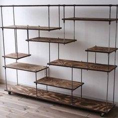 wood iron shelf 970*1200*225