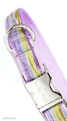 Lavender and purple dog collar for girls. Pretty collars for a spring dog collar.