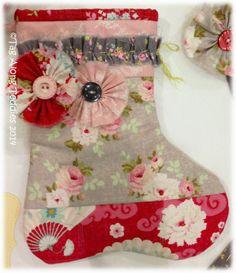 Tag Along Teddies April 2014 Sweetly Shabby Christmas stocking