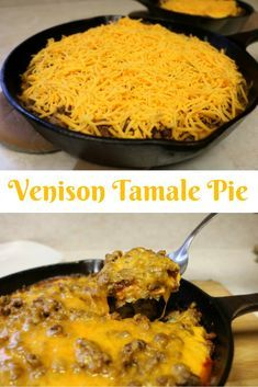 Venison Tamale Pie Collage