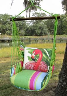 Fresh Lime Pink Flamingo Hammock Chair Swing Set Bring exotic animal life to your backyard with our colorful Fresh Lime Pink Flamingo Hammock Swing Chair! Our flamingo hammock chair swing is a delightful addition to your patio or lawn. Flamingo Gifts, Flamingo Decor, Pink Flamingos, Flamingo Bathroom, Flamingo Outfit, Hammock Swing Chair, Swinging Chair, Swing Chairs, Room Chairs