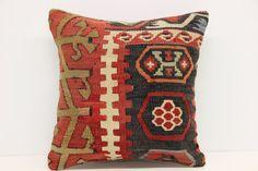 Woven Textile Kilim Pillow Cover 16 x 16 by kilimwarehouse on Etsy