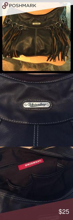 Union bay leather brown  fringe purse !!!! Union bay brown fringe purse!!!! Must have accessory ! Unionbay Bags Shoulder Bags