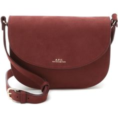 949ad809ba A.P.C. Luxembourg Saddle Bag ($470) ❤ liked on Polyvore featuring bags,  handbags, shoulder bags, bordeaux, red leather shoulder bag, leather  shoulder bag, ...