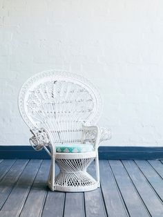 Childs Peacock Chair White