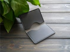 Mens Leather Card Case  Engraved Leather Card Holder  by CityOfGod
