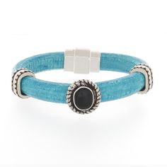 A fun and interesting bracelet for casual and smart casual styles. Fits a small wrist. Properties are: Leather: brings durability and warmth to a personBlack Onyx: Balances the energy, Centers and aligns the total personSilver: calms and brings balance Turquoise Jewelry, Boho Jewelry, Handmade Jewelry, Amethyst Color, Beaded Wrap Bracelets, Deep Purple, Casual Styles, Silver, Leather