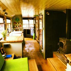 A 1982 metro bus converted into a three bedroom traveling home in Brighton, United Kingdom.