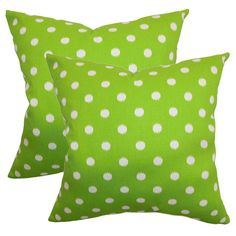 Ikat Dots Pillow in Grasshopper Green from the Preppy & Plush event at Joss and Main!