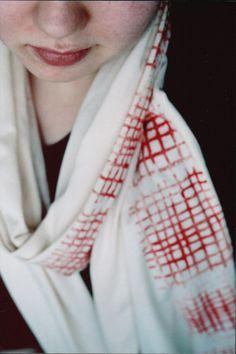 block printing scarves & napkins - to do