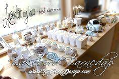 Kakebord i hvitt og aqua {Inspirasjon Julians Dåp} Del 5 - ToneroseDesign