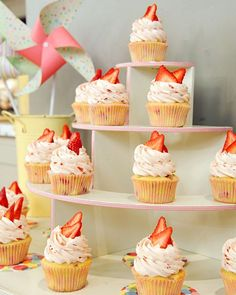 Cupcakes are a popular treat for birthday parties and other festive gatherings. Add to the decor of your celebration by displaying them on a lovely homemade stand. (And when the party's over, use the stand to display vases, plants, or any other decorative objects you like.)