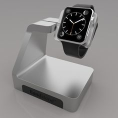 Apple: Apple Watch: 12 accessories to trick out your Apple Watch | Cult of Mac: Bandstand: Bandstand puts the Watch on a swivel mount that doubles as an inductive charger. The prototype we saw at CES earlier this year was solid and well made, so if you're in the market for a stand, it's worth considering. Shipping starts this summer. Price TBA. Find out more: Standzout (http://gobandstand.com/)