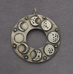 lunar phases pendant..