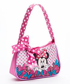 Look what I found on #zulily! Pink Minnie Mouse Bow Handbag #zulilyfinds