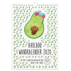 Diese und weitere tolle Geschenkideen von Mr. & Mrs. Panda findest du auf www.pandaliebe.de Monat, Panda, Mr Mrs, Collection, Material, Avocado, Design, Paper, Personal Organizer