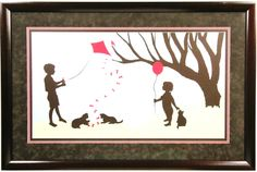 Silhouette with color in a Bradley's custom frame