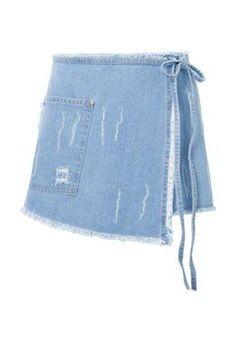 Short saia jeans Tamires