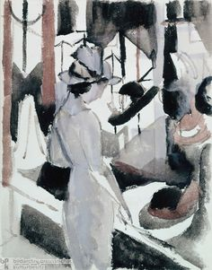 "August Macke ""Woman in Front of a Hat Shop"" 1914"